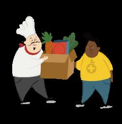 Donate Food Illustration
