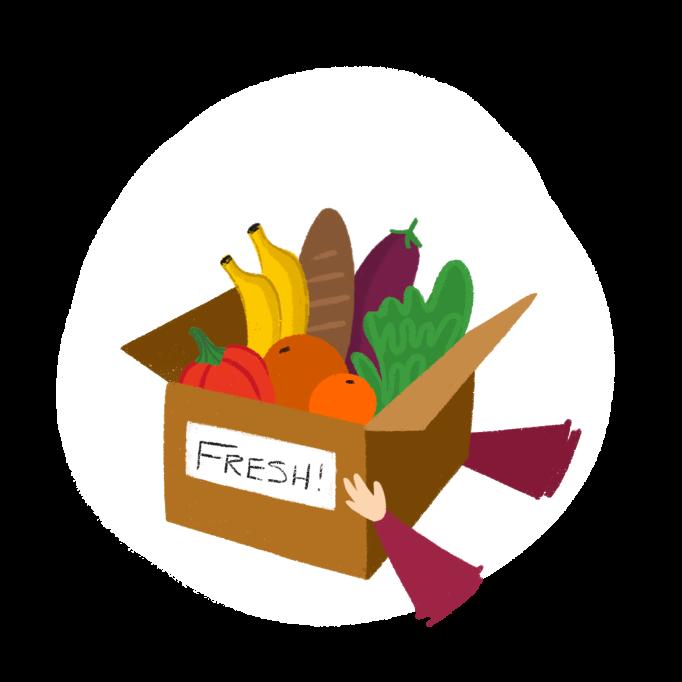 Fresh Deliveries Illustration