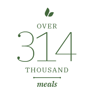 Over 314 Thousand meals Stat